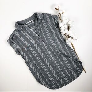 Halogen striped short sleeve shirt